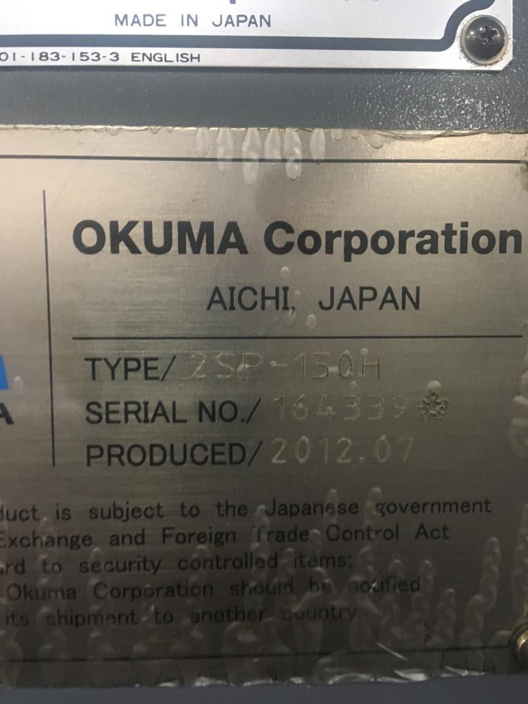 Used CNC Lathe Okuma 2SP-150H 2012