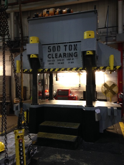 Used Hydraulic Press  Clearing 500 Ton