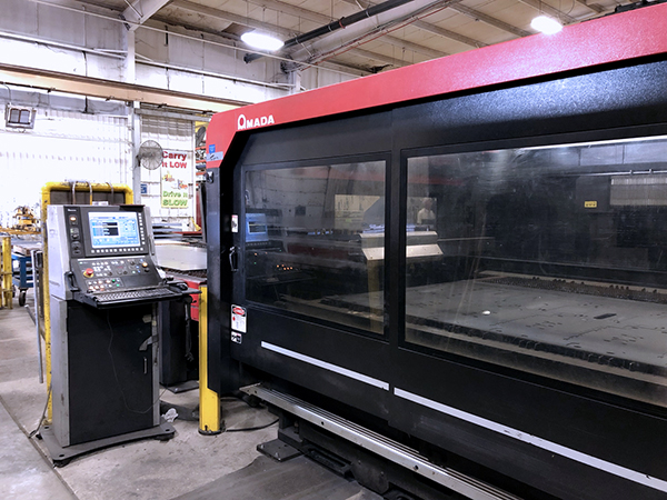 Used Laser Cutting Machine Amada FOM2-4222NT 2012