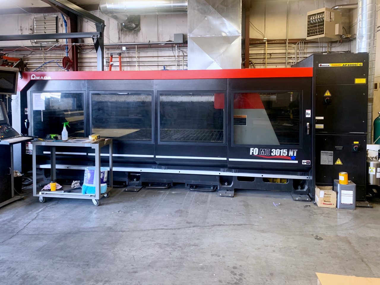 Used Laser Cutting Machine Amada FOMII 3015NT 2015