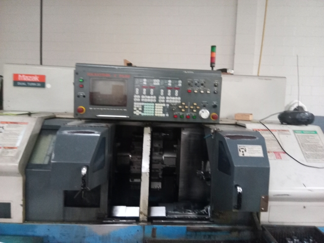Used CNC Multi-Spindle Lathe Mazak Dual Turn 20 1996