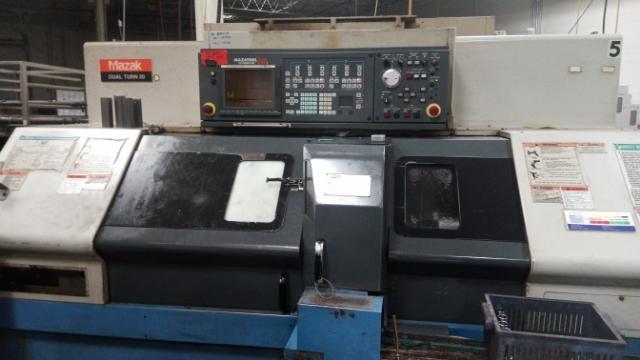 Used CNC Multi-Spindle Lathe Mazak Dual Turn 20 2000