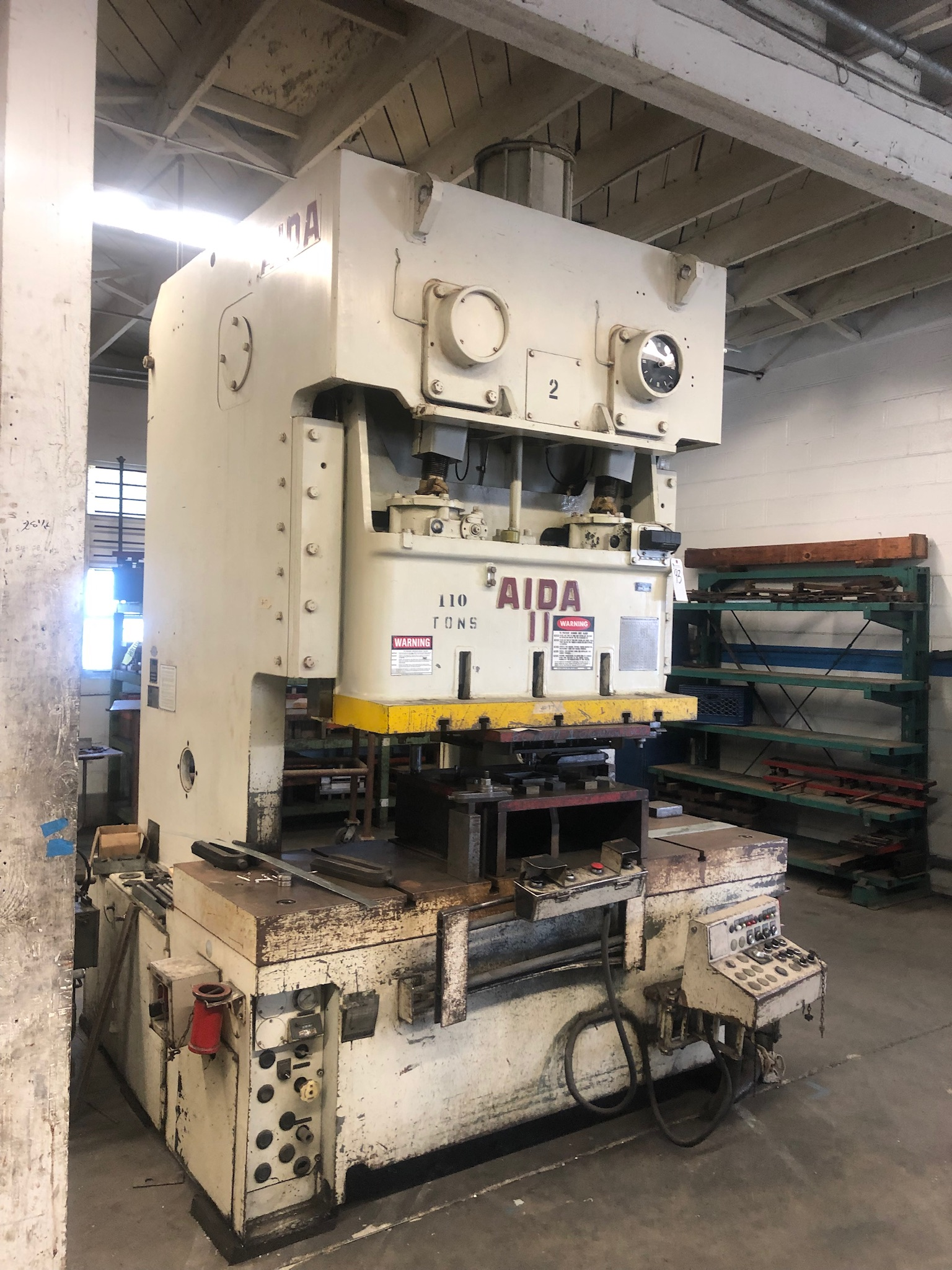 Used Gap Frame Press Aida C2-11 1981
