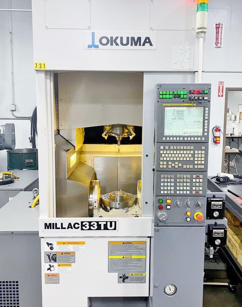 Used 5 Axis Machining Center Okuma Millac 33TU 2010