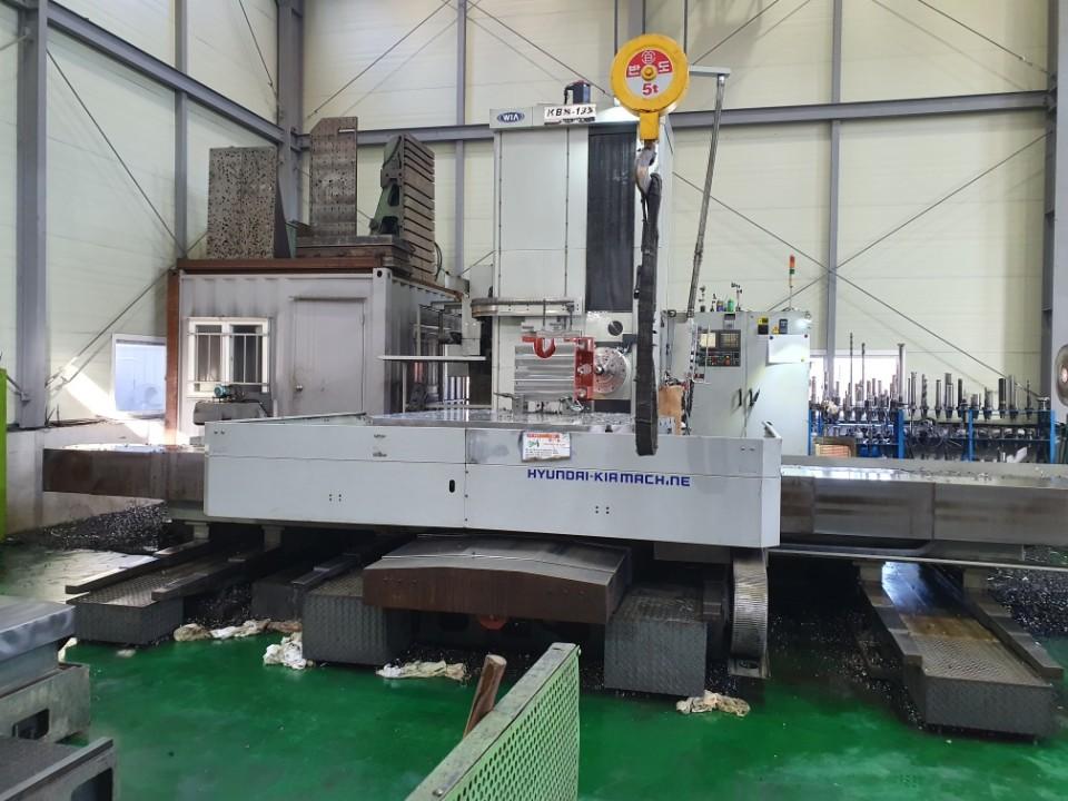 Used CNC Table Type Boring Machine Hyundai WIA KBN-135 2008