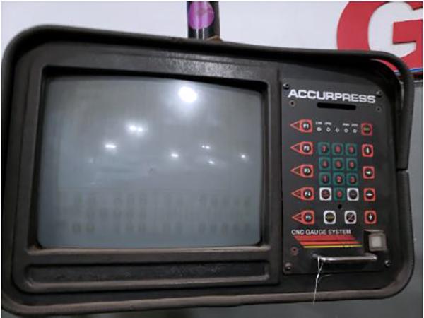 Used Hydraulic Press Brake Accurpress 725012 1993