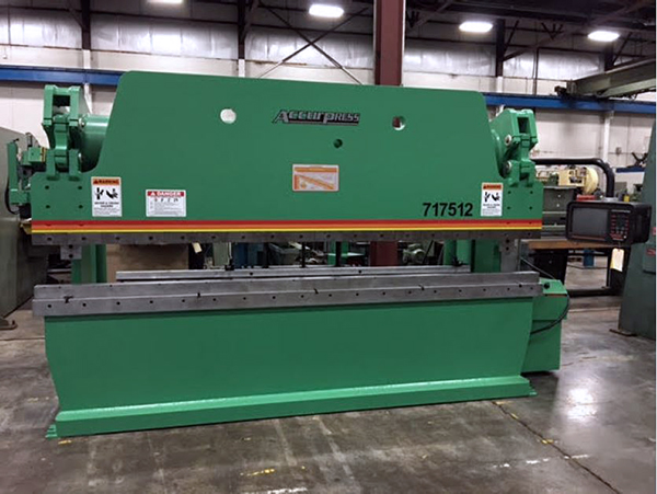 Used Hydraulic Press Brake Accurpress 717512 1993