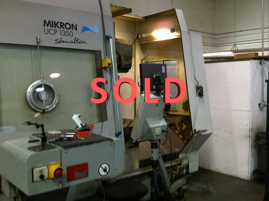 Used 5 Axis Machining Center Mikron UCP1350 2002