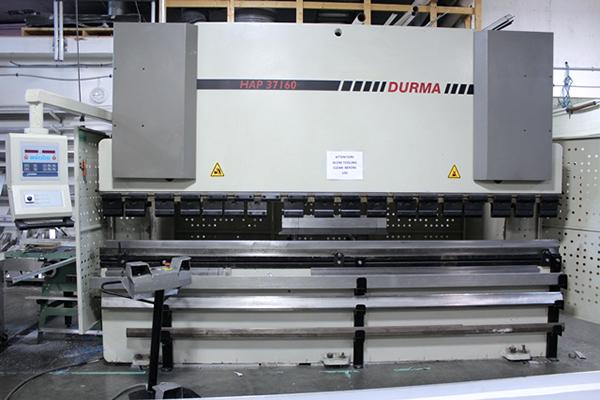 Used Hydraulic Press Brake Durma HAP37160 2004
