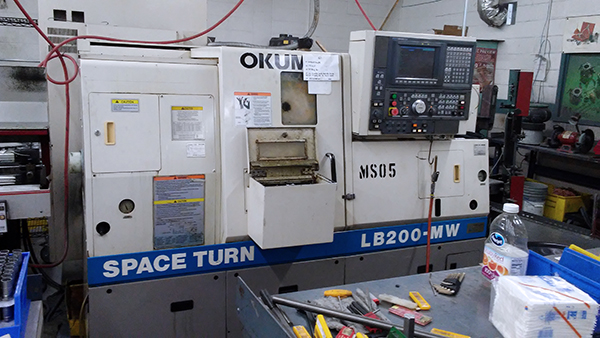 Used CNC Lathe Okuma Space Turn LB-200MW 2000