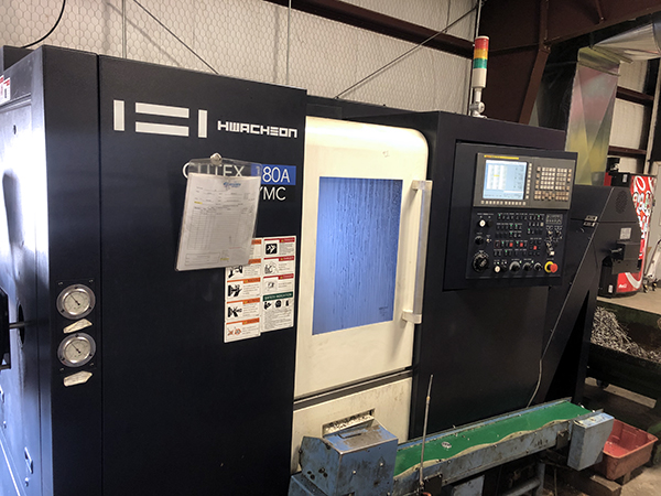 Used CNC Lathe Hwacheon Cuttex 180AYMC 2018