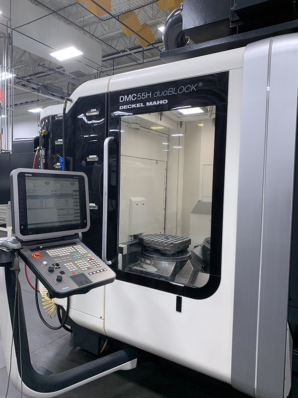 Used Horizontal Machining Center DMG DMC 55H DuoBlock 2009