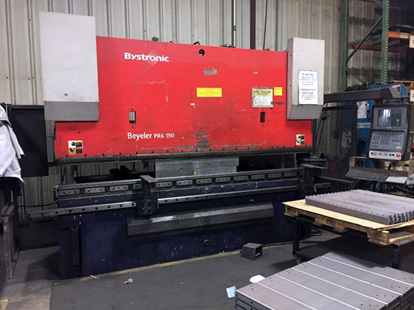 Used Hydraulic Press Brake Bystronic Beyeler PR160 2003