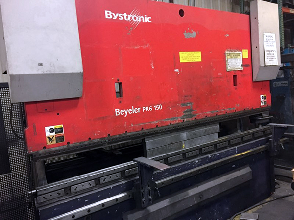 Used Hydraulic Press Brake Bystronic Beyeler PR160 2003