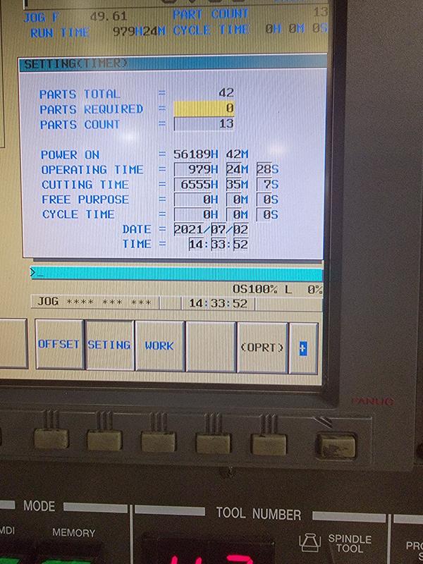 Used Horizontal Boring Mill Hyundai Kia KBN-135 2006