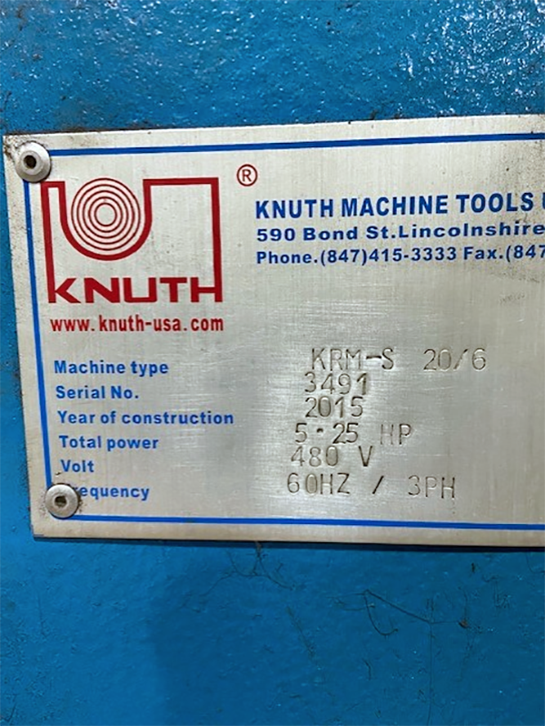 Used Bending Roll Knuth KRM-S 20/6 2015