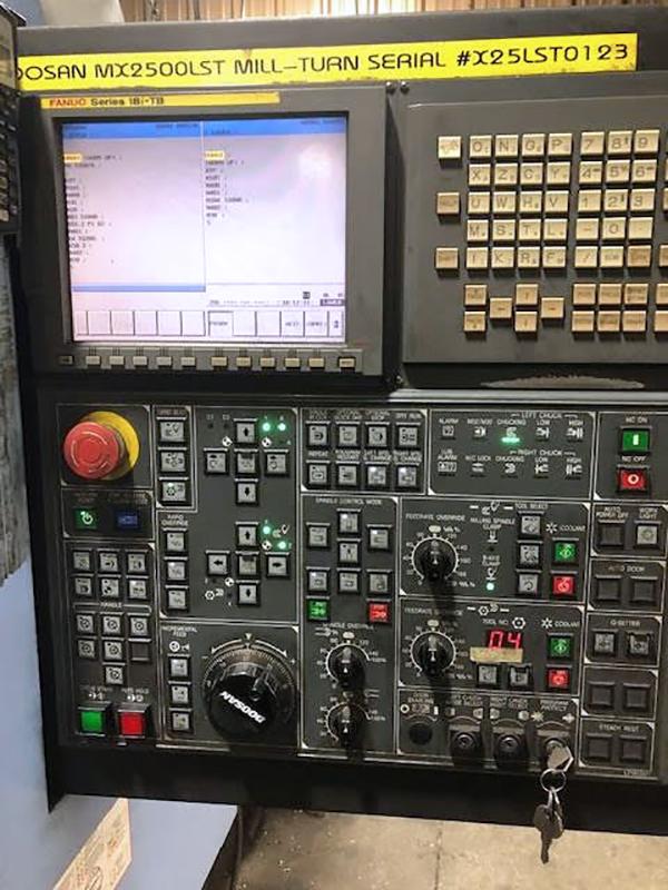 Used CNC Lathe Doosan MX2500 LST 2008