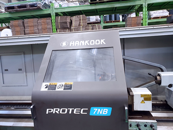 Used CNC Lathe Hankook Protec 7NBx4000 2016