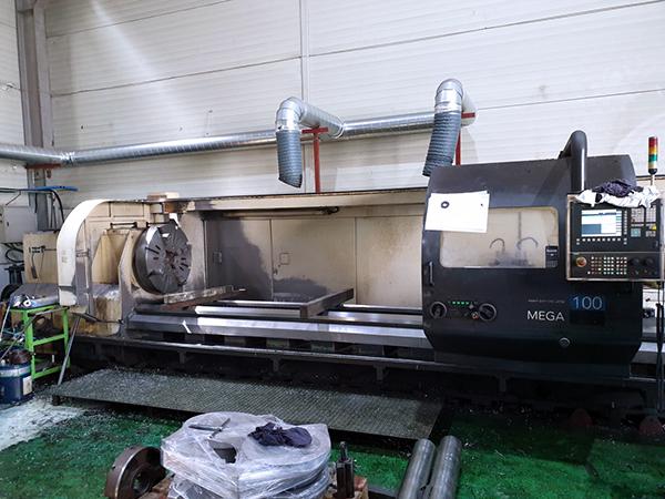 Used CNC Lathe Hwacheon MEGA 100x6000 2008