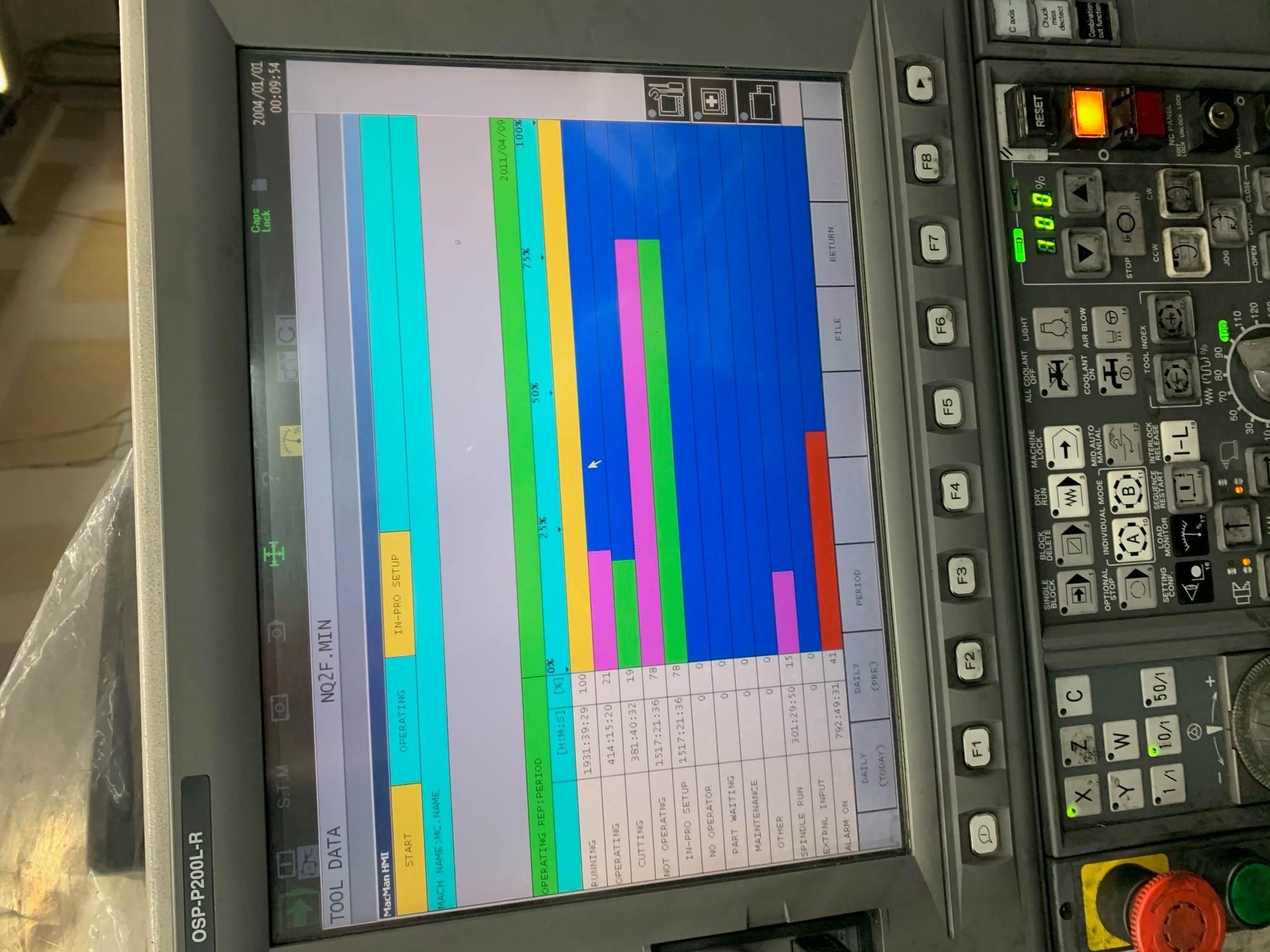Used CNC Turning Center Okuma GENOS L200E-M 2011