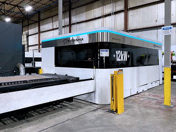 Used Laser Cutting Machine Piranha Plate Laser 1530 12kW Fiber 2017