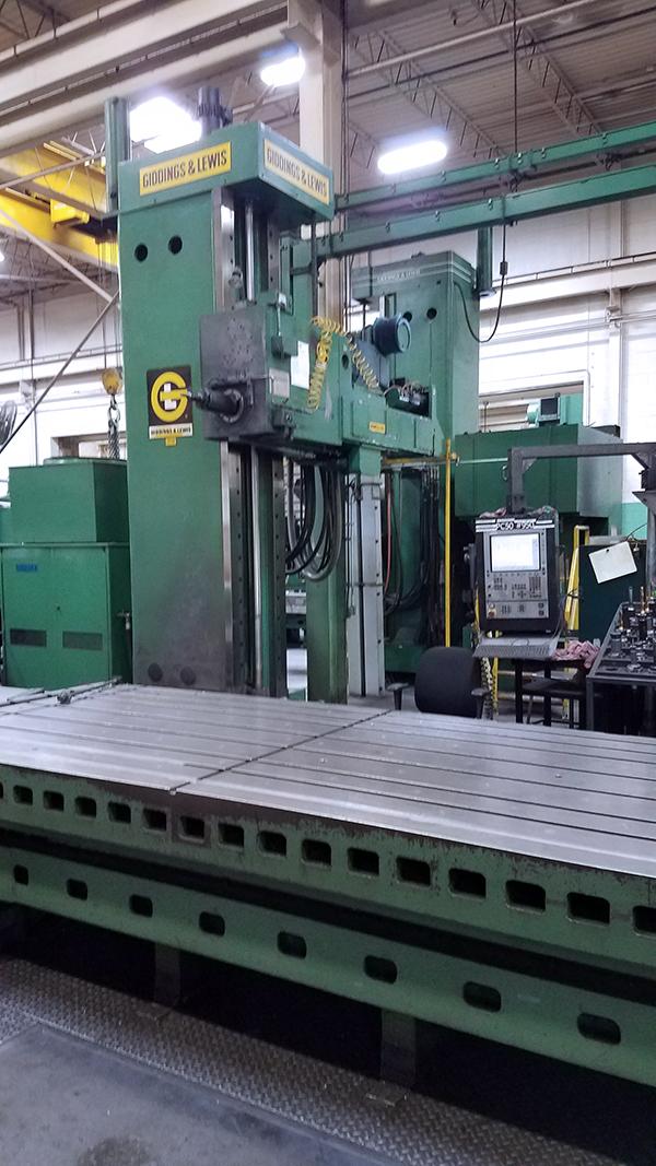 Used Horizontal Boring Mill Giddings & Lewis PC-50 5
