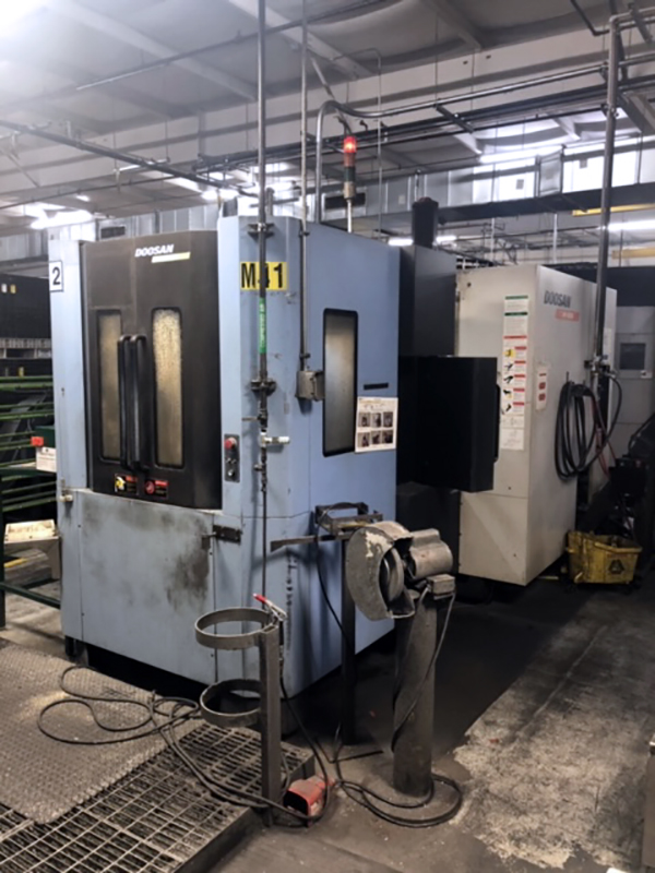 Used Horizontal Machining Center Doosan HP-4000 2008