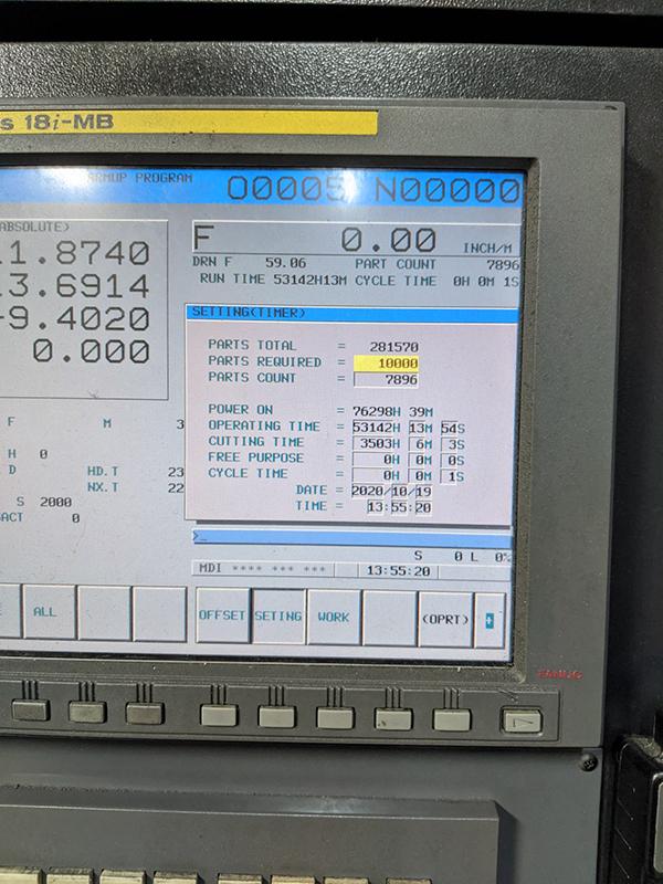 Used Horizontal Machining Center Doosan HP-4000 2007