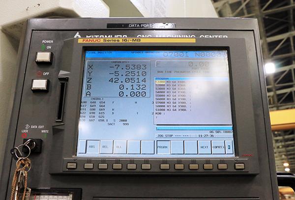 Used Horizontal Machining Center Kitamura Mycenter HX1000i 2011