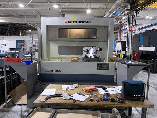 Used Horizontal Machining Center Mitsubishi M-H80EN 2000