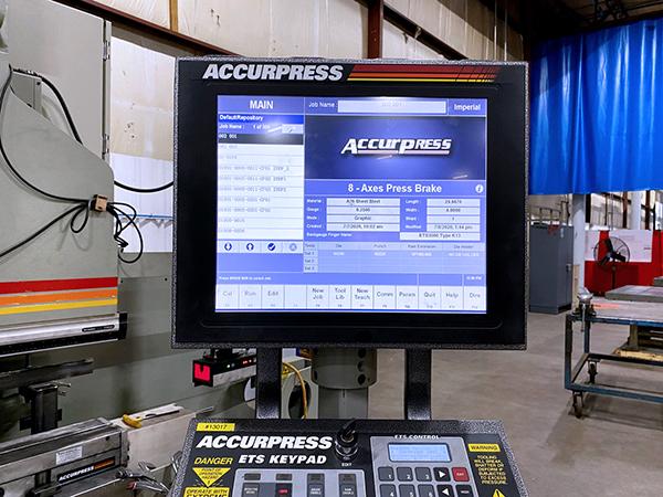Used Hydraulic Press Brake Accurpress 750020 2017
