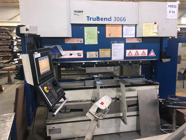 Used Hydraulic Press Brake Trumpf 3066 2007
