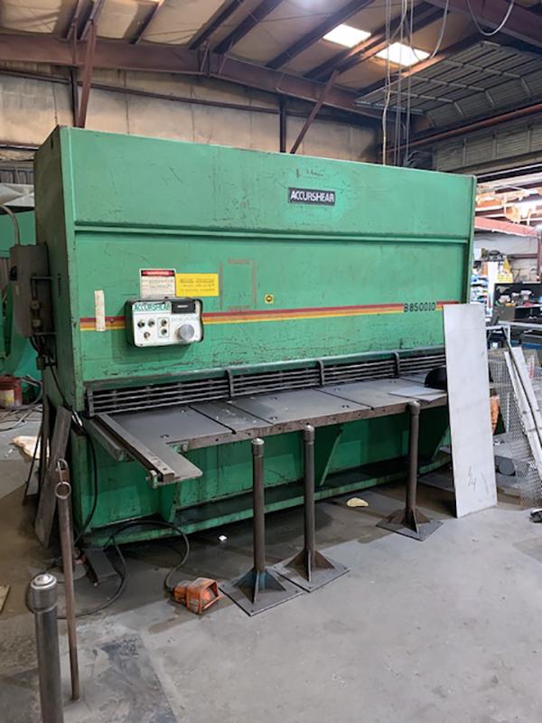 Used Hydraulic Shear  AccurShear B850010 1982