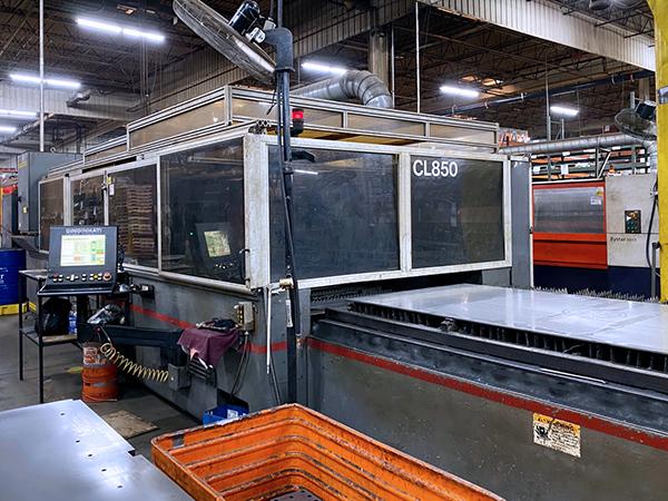 Used Laser Cutting Machine Cincinnati CL-850 2010