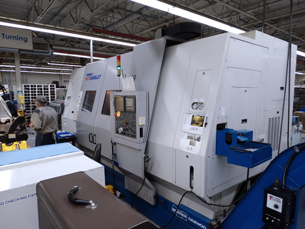 Used Multi Axis CNC Turning Center Doosan Puma MX2500LST 2005