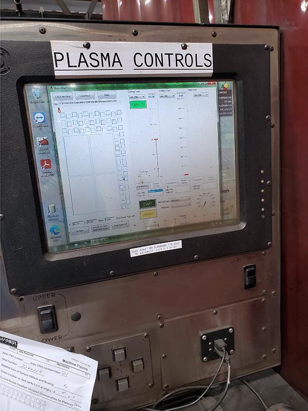 Used Plasma Cutting Machine Controlled Automation MST-512 2007