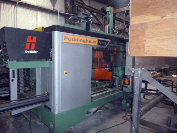 Used Plasma Cutting Machine Peddinghaus PW 1250 2018