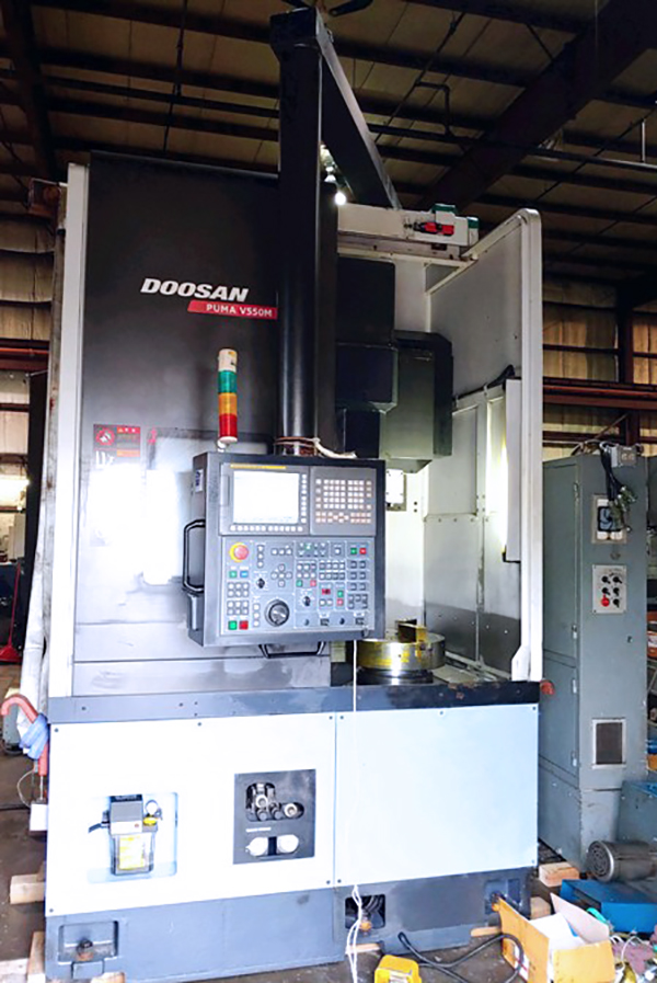 Used Vertical Turning Center Doosan Puma V550M 2011