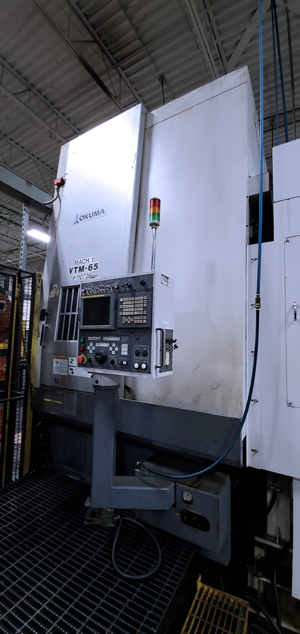 Used Vertical Turning Center Okuma VTM 65 2007