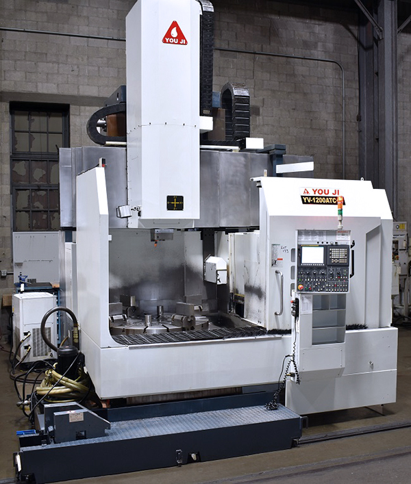 Used Vertical Turret Lathe You Ji YV-1200-ATC+C 2012